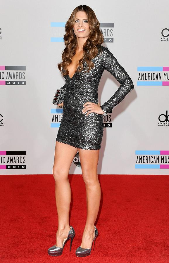 LOS ANGELES, CA - NOVEMBER 21:  Actress Stana Katic arrives at the 2010 American Music Awards held at Nokia Theatre L.A. Live on November 21, 2010 in Los Angeles, California.  (Photo by Jon Kopaloff/FilmMagic)