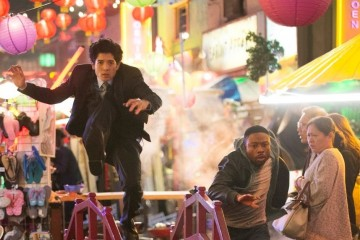 RUSH HOUR, a reimagining of the hit feature film franchise, is CBS's new buddy-cop drama about maverick LAPD detective Carter (Justin Hires, right) and by-the-book Hong Kong detective and master martial artist Lee (Jon Foo), who knock heads when they are forced to partner together in Los Angeles. Photo: Neil Jacobs/CBS ©2015 CBS Broadcasting, Inc. All Rights Reserved