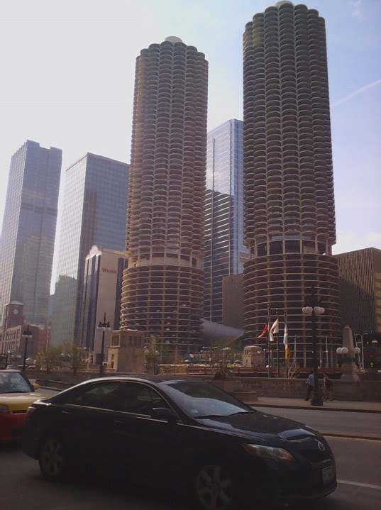 Chicago corn cob building