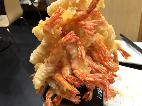 fried shrimp tower