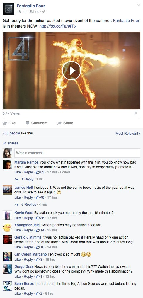 Fantastic Four Facebook 4