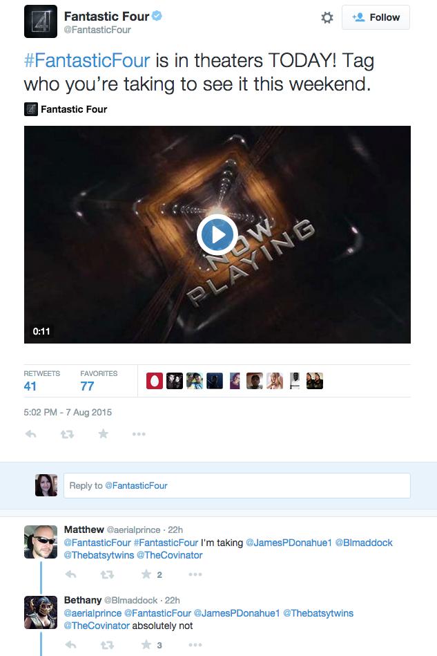 Fantastic Four twitter 2