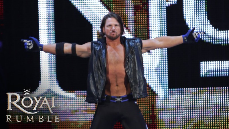 AJ Styles Royal Rumble