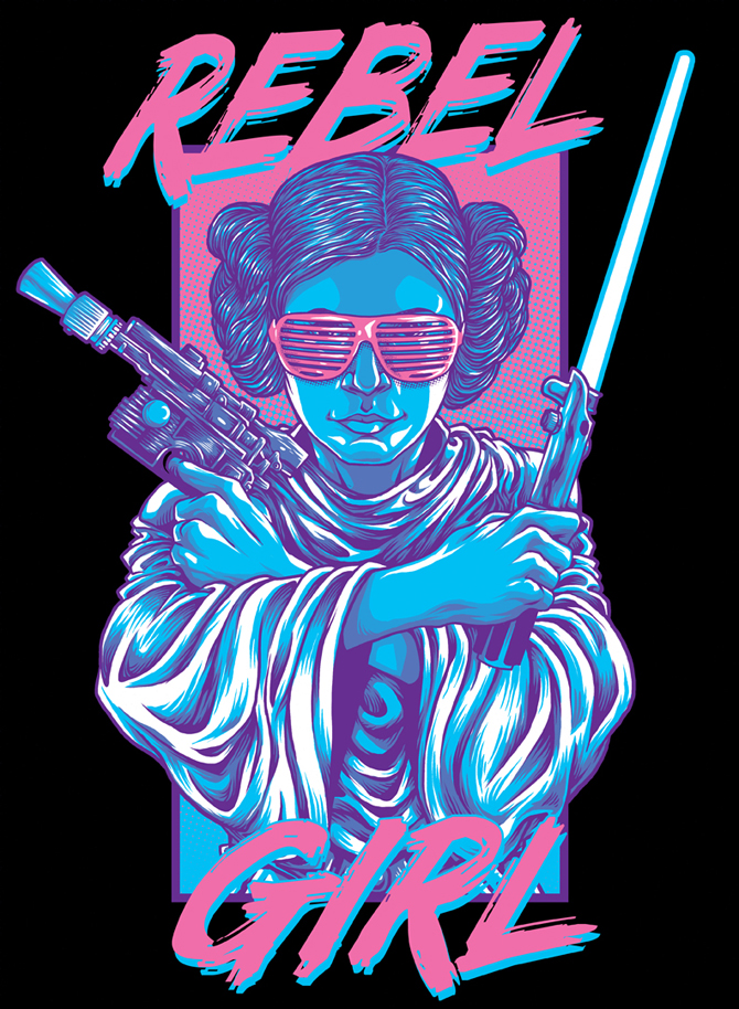 rebel girl teefury s