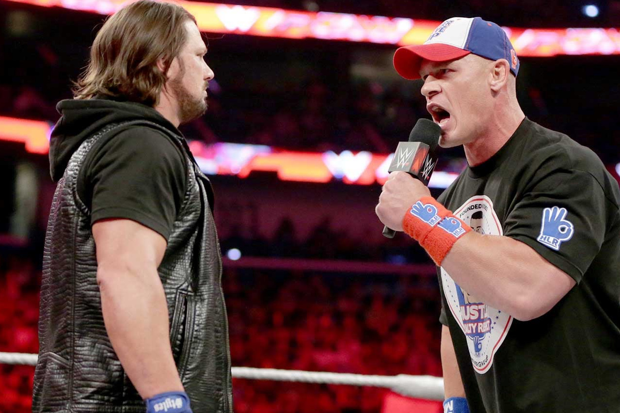 Styles and Cena Contract Signing AAGG