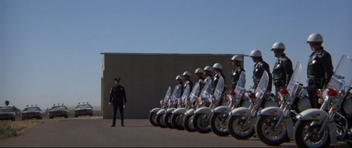 classic action film electra glide in blue