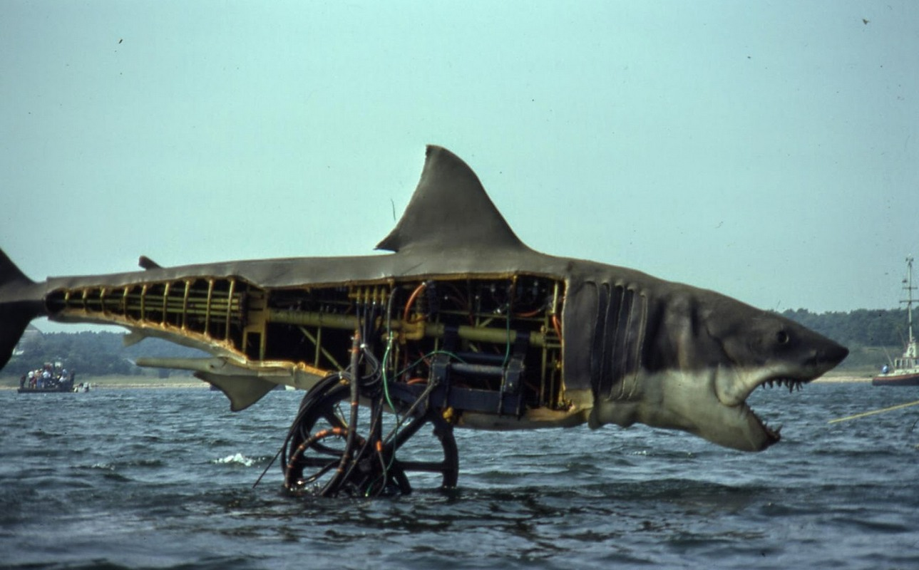 Bruce the mechanical shark in Jaws