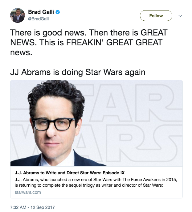 JJ Abrams Star Wars Twitter