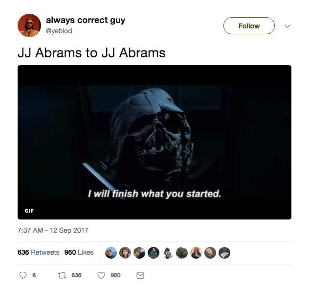 JJ Abrams Twitter Star Wars